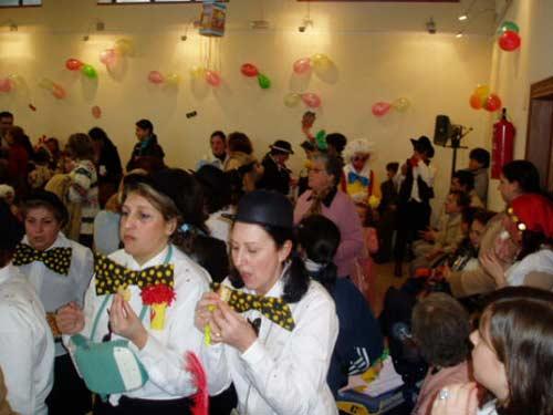 Mujeres en la fiesta del carnaval. - Se abre en una nueva ventana