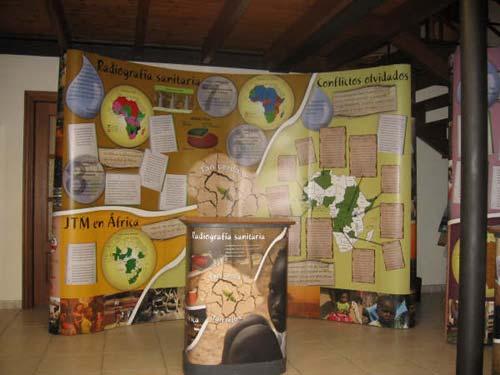 Mural con información sobre África. - Se abre en una nueva ventana