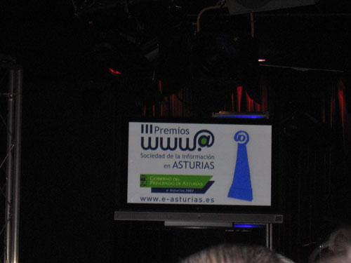 Escenario de la Entrega de los III Premios Sociedad de la Información en Asturias - Se abre en una nueva ventana