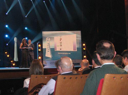 Presentacion de una de las paginas web finalistas ,laromanela.es - Se abre en una nueva ventana